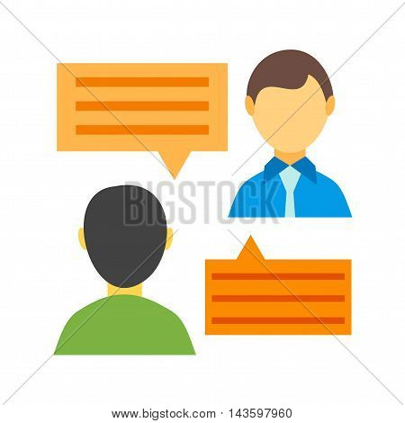 Chat, message, persons icon vector image. Can also be used for networking. Suitable for use on web apps, mobile apps and print media.