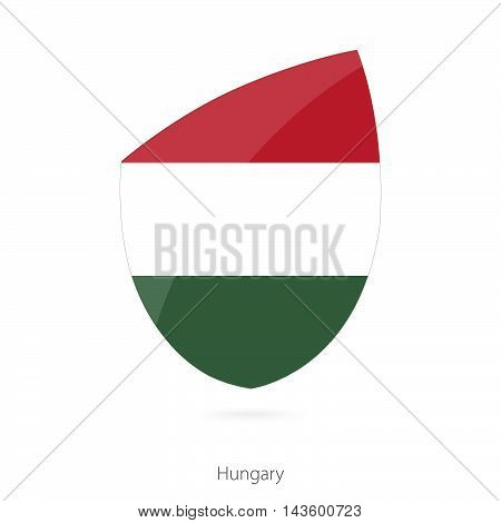 Flag Of Hungary. Hungarian Rugby Flag.