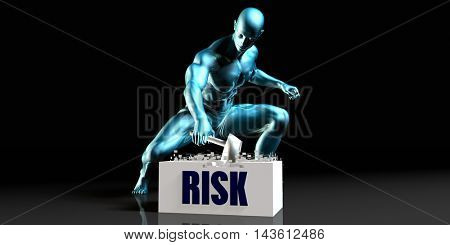 Get Rid of Risk and Remove the Problem 3D Illustration Render