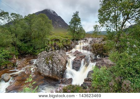 Glen Etive Mor Waterfalls