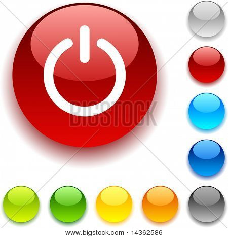 Switch  shiny button. Vector illustration.