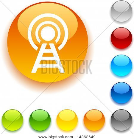 Communication  shiny button. Vector illustration.