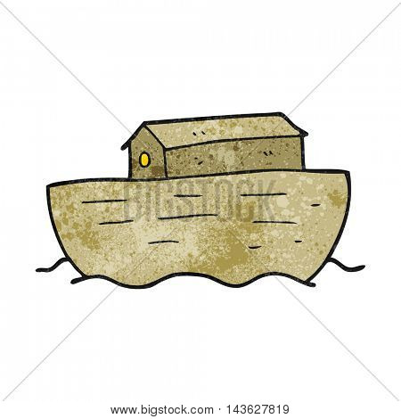 freehand textured cartoon noah's ark