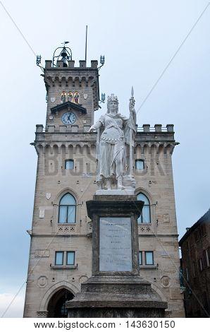 City Hall at Piazza della Libert in san marino