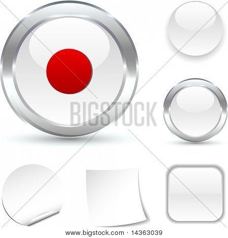 Rec  white icon. Vector illustration.