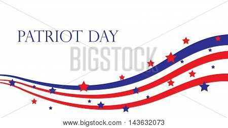 Patriot Day USA American Patriot Day. Vector illustration.