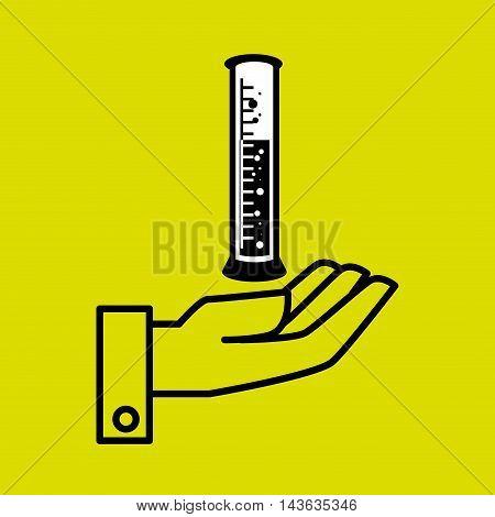 hand laboratory tools chemistry vector illustration graphic