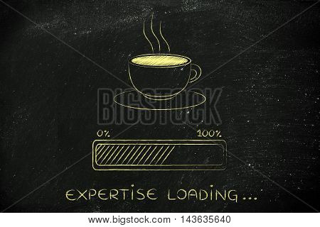 Coffee Cup & Progress Bar Loading Expertise