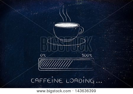 Coffee Cup & Progress Bar Loading Awakeness