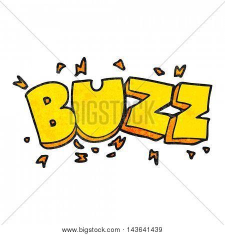 freehand textured cartoon buzz symbol