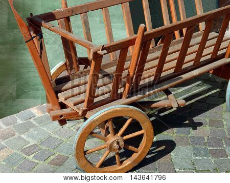 a wooden carts old who looks flawless  You can see
