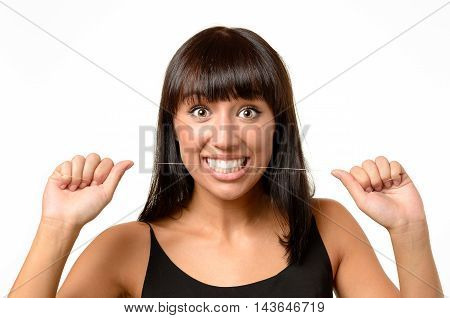 Excited Young Woman With A Look Of Amazement
