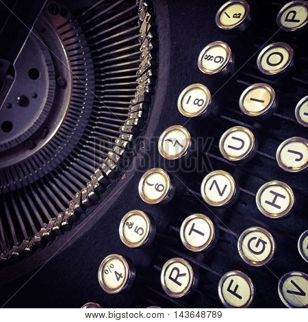 Old typewriter detail