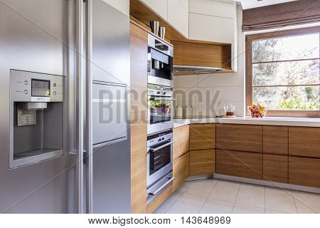 Sunny Kitchen With All The Necessary Appliances