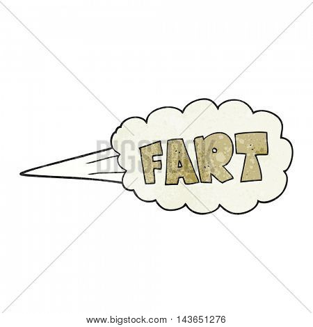 freehand textured cartoon fart symbol
