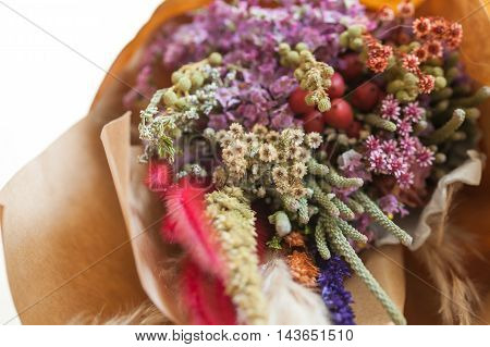 Closeup Of Bouquets Of Flowers (soft Focus)