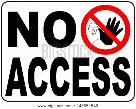 Vector Circle Prohibited Symbol Restricted Area For Member Only or No Enter Sign in Caution Zone isolated on white No access with hand