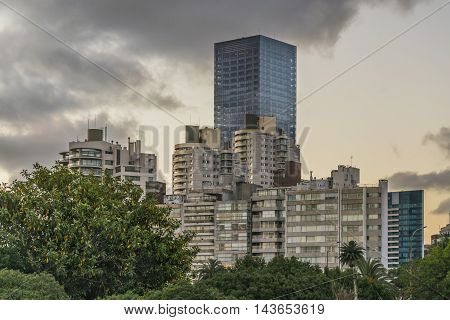 Modern Buildings In Montevideo Uruguay