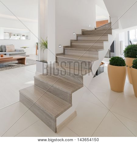 Wooden Stairs Without Rails