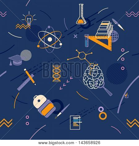 School seamless abstract background