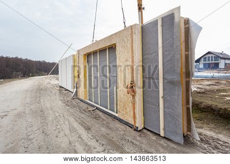 Building a structural Insulated Panels Frame House.