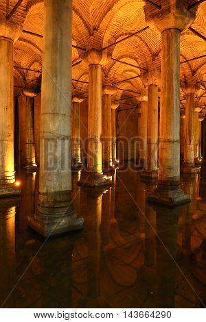 Basilica Cistern In Istanbul City