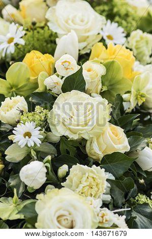 Elegant Flower Arrangement in White and yellow