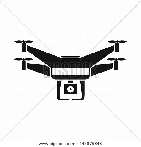 Drone video camera icon in simple style isolated on white background