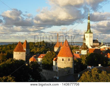View from top of Tallin old town
