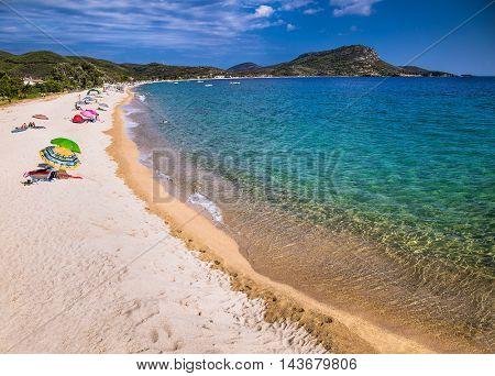 Beautiful  Porto Koufo beach on the east coast of Sithonia on Halkidiki, Greece.