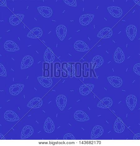 Vector illustration of Seamless bleu diamond background