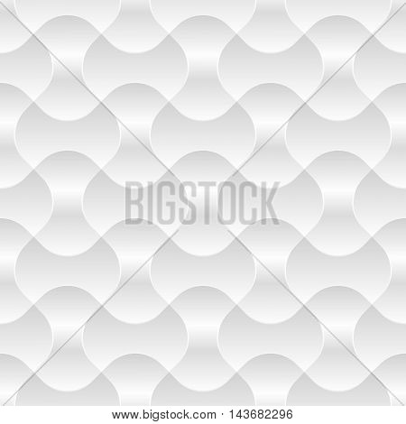 Vector illustration of Seamless white geometric pattern