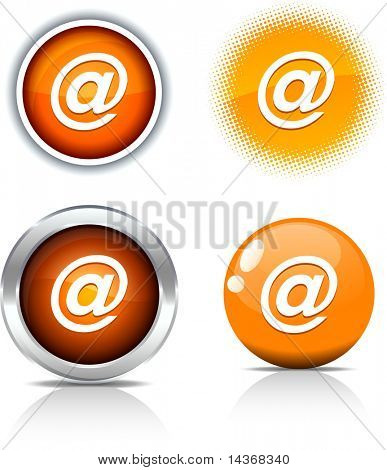 Arroba beautiful buttons. Vector illustration.