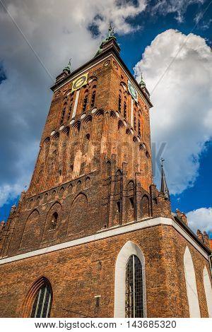 St. Catherine's Church (Kosciol sw. Katarzyny) the oldest church in Gdansk Poland