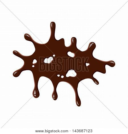 Big spot of chocolate icon isolated on white background. Sweets symbol