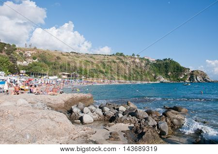 12 august 2016-capo vaticano-italy-the beautiful beach of