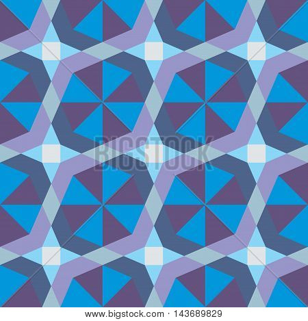 Vector geometric pattern seamless background. Decorative wallpaper.