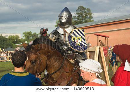 Saint-petersburg, Russia - July 17, 2016: Battle On A Neva Knightly Tournament
