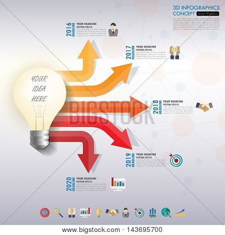 Business Infographic Template. Data Visualization. Can Be Used For Workflow Layout, Number Of Option