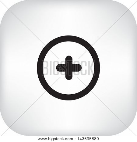 Vector plus web flat icon.