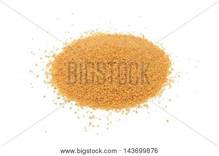 Cous Cous grains pile isolated on white background