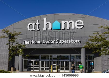 Indianapolis - Circa August 2016: At Home Retail Chain Location. At Home Specializes in Home Decor Furnishings and Decorative Accents I