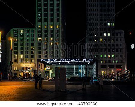 Potsdamerplatz In Berlin (hdr)