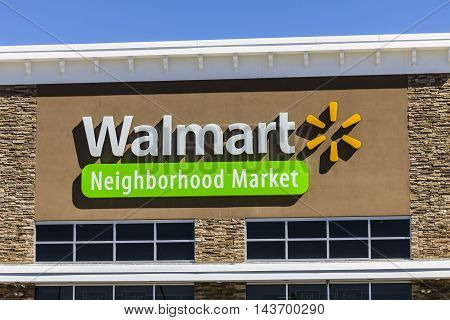 Indianapolis - Circa August 2016: Walmart Retail Location. Walmart is an American Multinational Retail Corporation VI