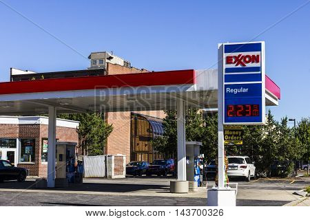 Indianapolis - Circa August 2016: Exxon Retail Gas Location. ExxonMobil is the World's Largest Oil and Gas Company II