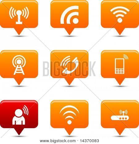 Communication button set. Vector illustration.