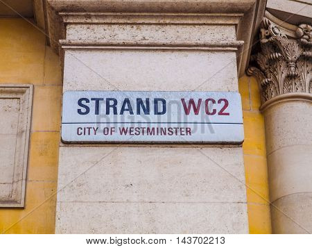 The Strand, London (hdr)