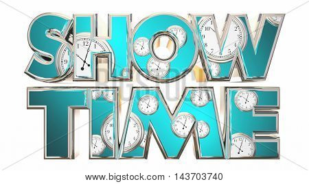Show Time Movie Theater Performance Start 3d Illustration