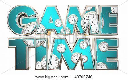 Game Time Sports Competition Start Begin 3d Illustration