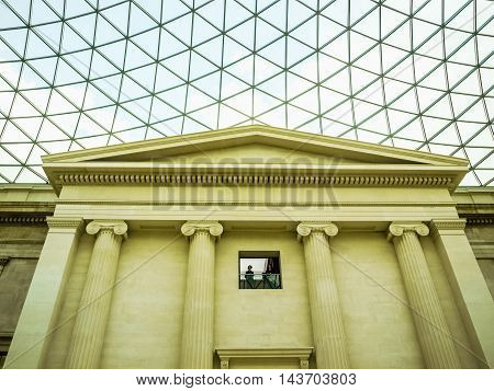 British Museum Great Court In London (hdr)
